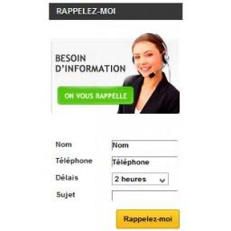 Module prestashop Rappel client personnalisable