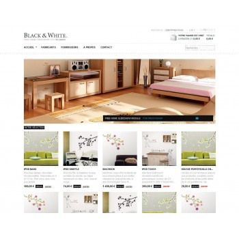 Prestashop template Black & White